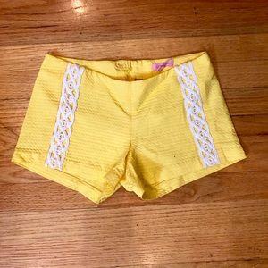 Yellow Lilly Pulitzer shorts (Liza)